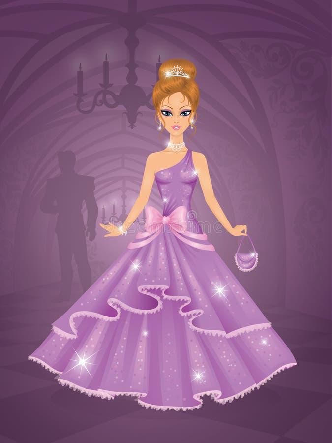 Prinses. stock illustratie