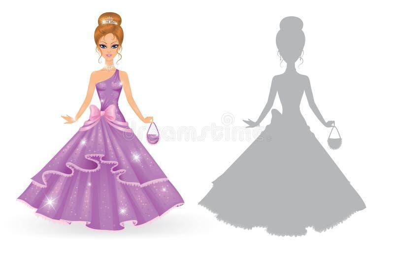 Prinses. vector illustratie