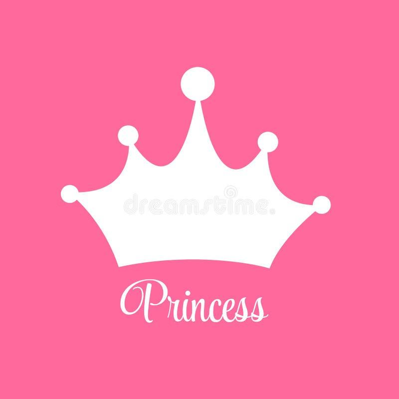 Prinses Background met Kroonvector royalty-vrije illustratie