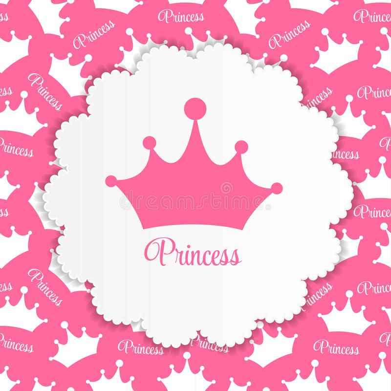 Prinses Background met Kroonvector royalty-vrije illustratie