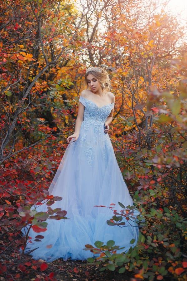 Prinses in de de herfsttuin royalty-vrije stock fotografie