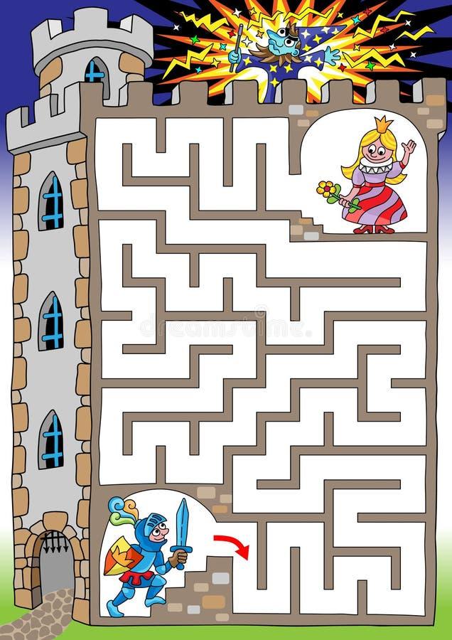 Prinses in een toren stock illustratie