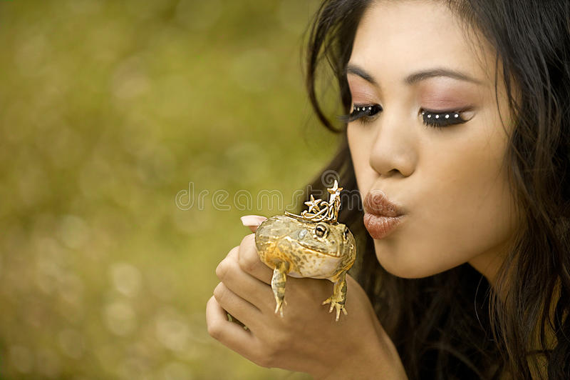 Prinses en de Kikker stock afbeelding