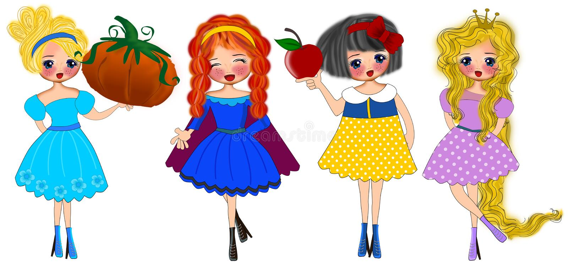 Prinses Fashion vector illustratie