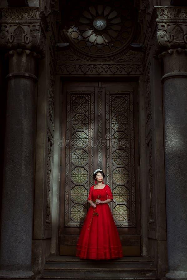 Prinses in het paleis stock fotografie