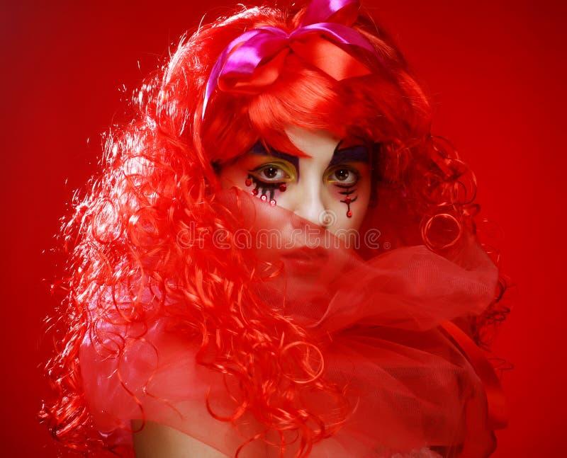 Prinses met helder rood haar royalty-vrije stock fotografie