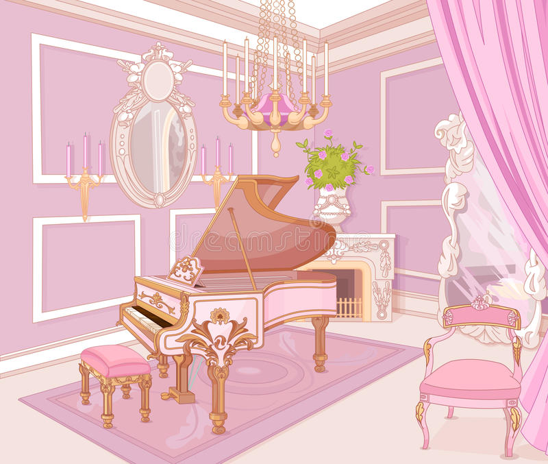 Prinses Music Room vector illustratie