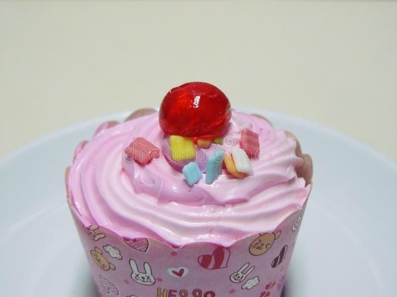Prinses Pink cupcake royalty-vrije stock afbeelding