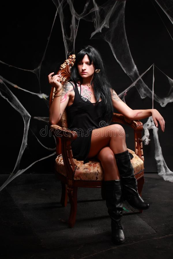 Prinses van de duisternis stock foto's