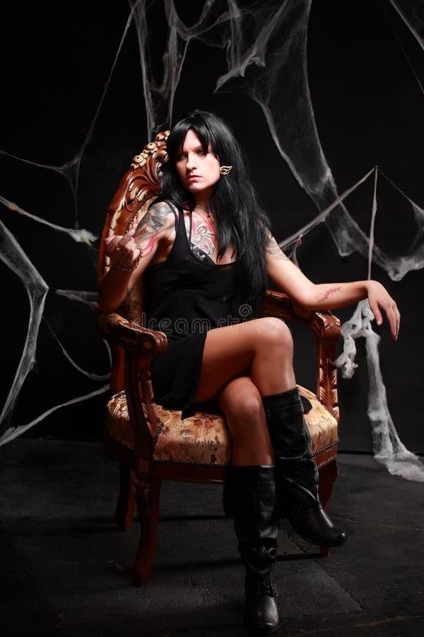 Prinses van de duisternis stock afbeelding