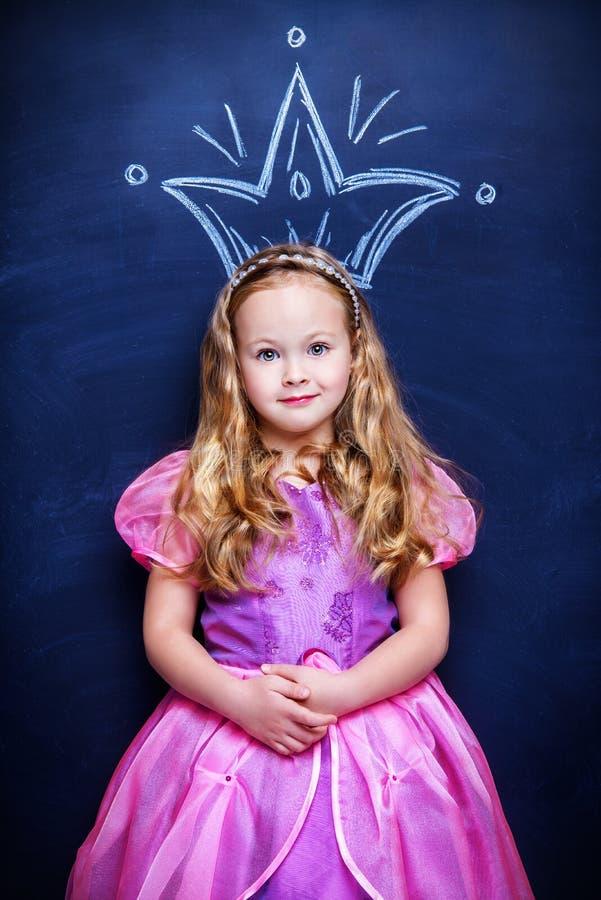 Prinsesmeisje stock afbeeldingen