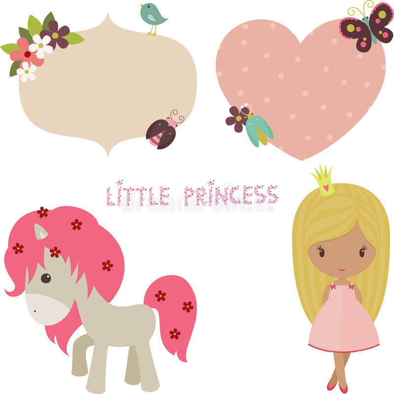 Prinsesreeks vector illustratie