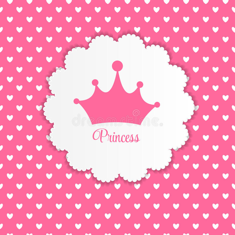 Prinsessa Background med kronavektorillustrationen stock illustrationer