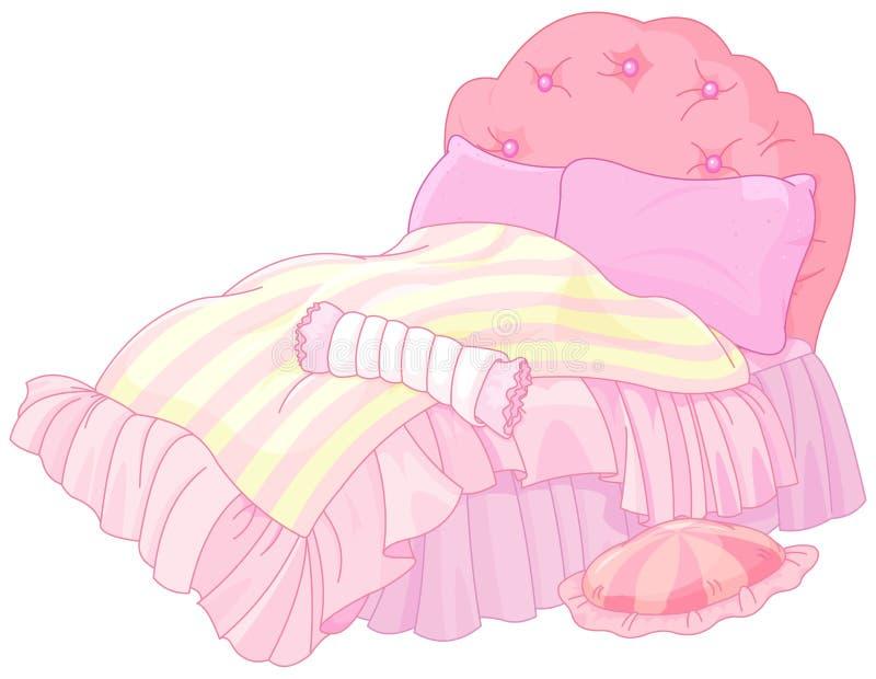 Prinsessa Bed royaltyfri illustrationer