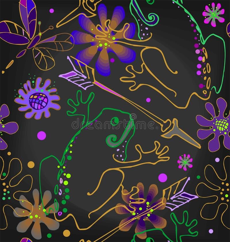 Prinsessa Frog med en pil stock illustrationer