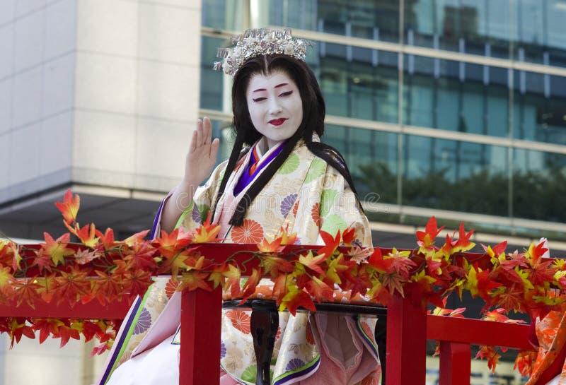 Prinsessa på den Nagoya festivalen, Japan royaltyfria bilder