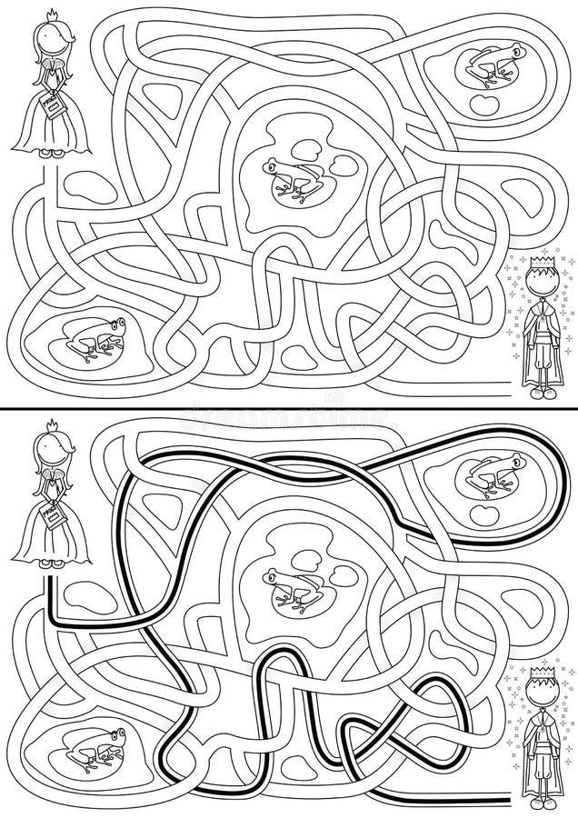 Prinsessalabyrint royaltyfri illustrationer