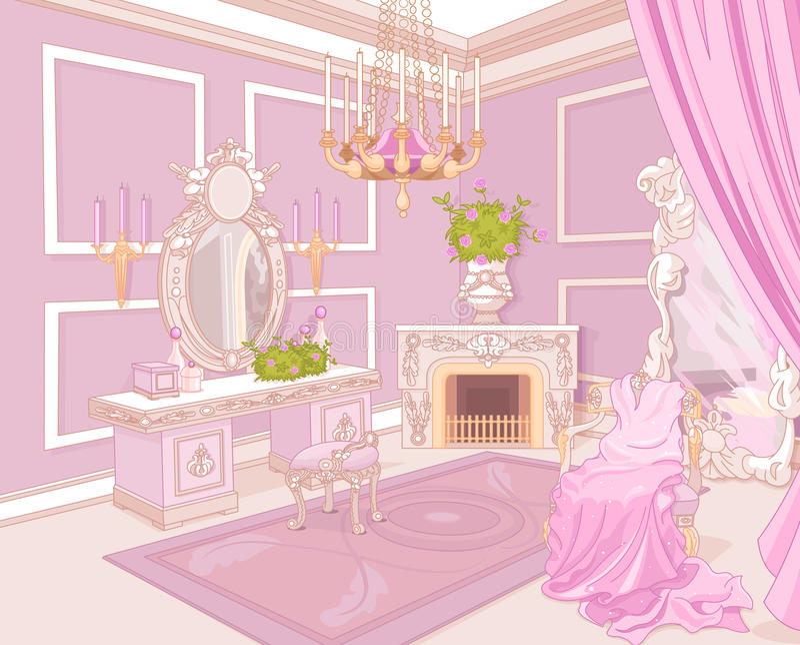 Prinsessaloge stock illustrationer