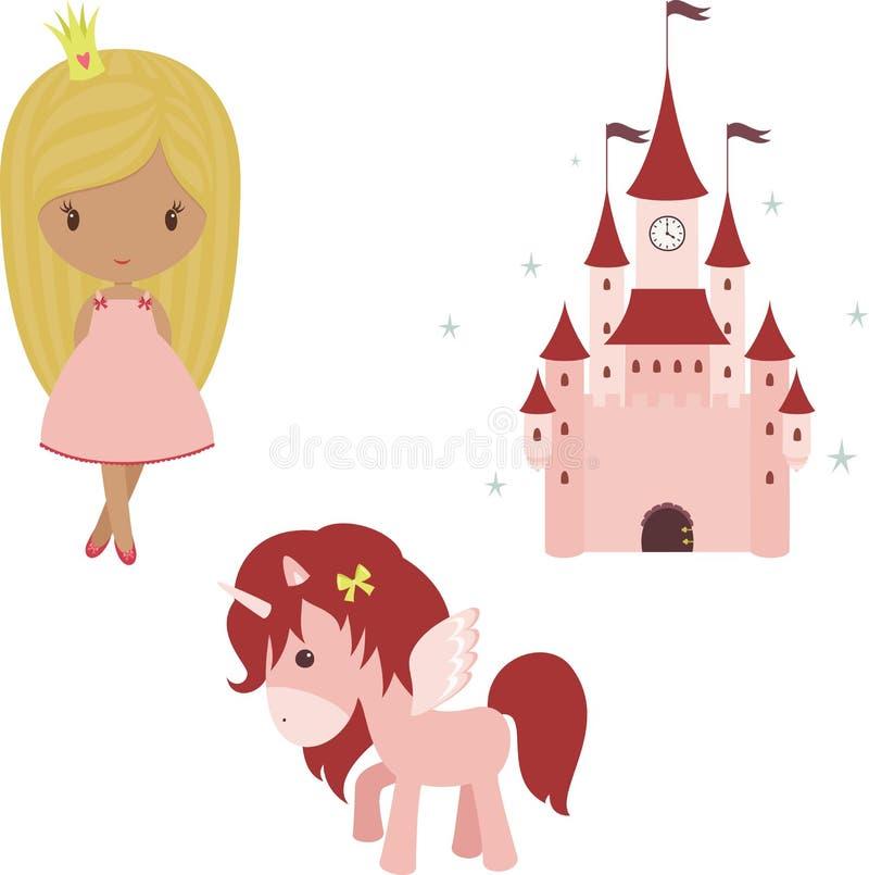 Prinsessauppsättning royaltyfri illustrationer