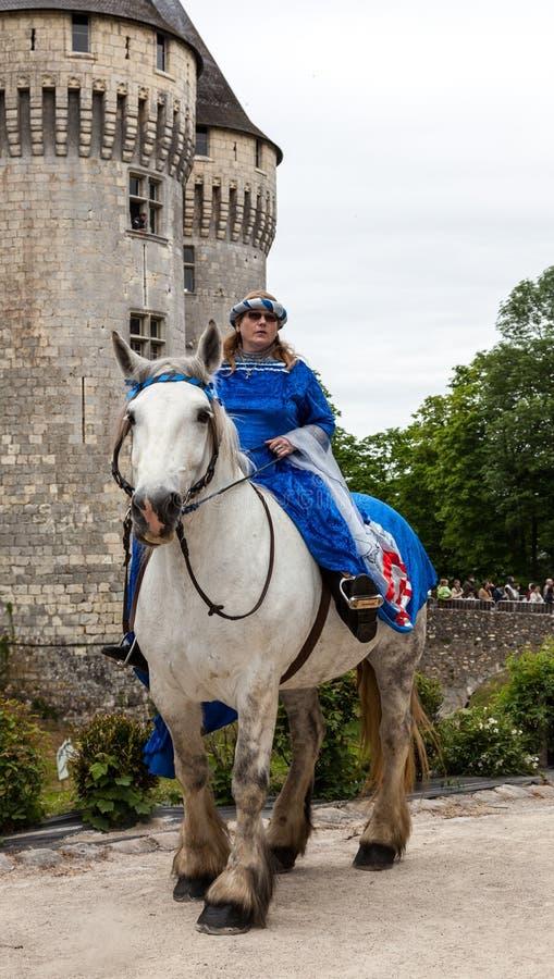 Prinsessen die Paarden berijden royalty-vrije stock afbeeldingen