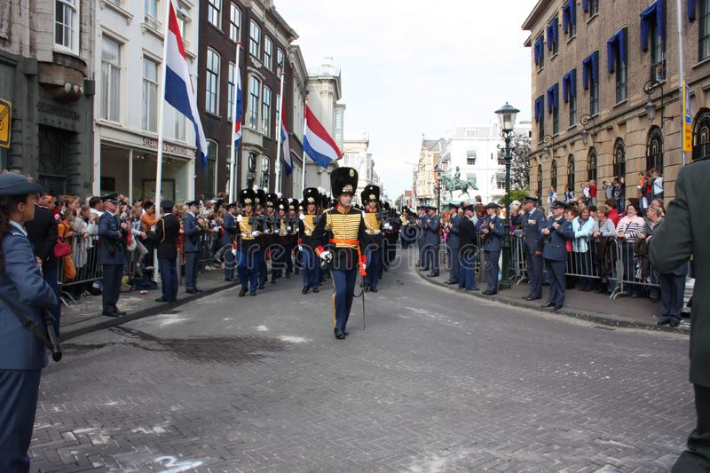 Prinsjesdag in Den Haag. The Garde regiment of The Royal Netherland Monarch stock photography