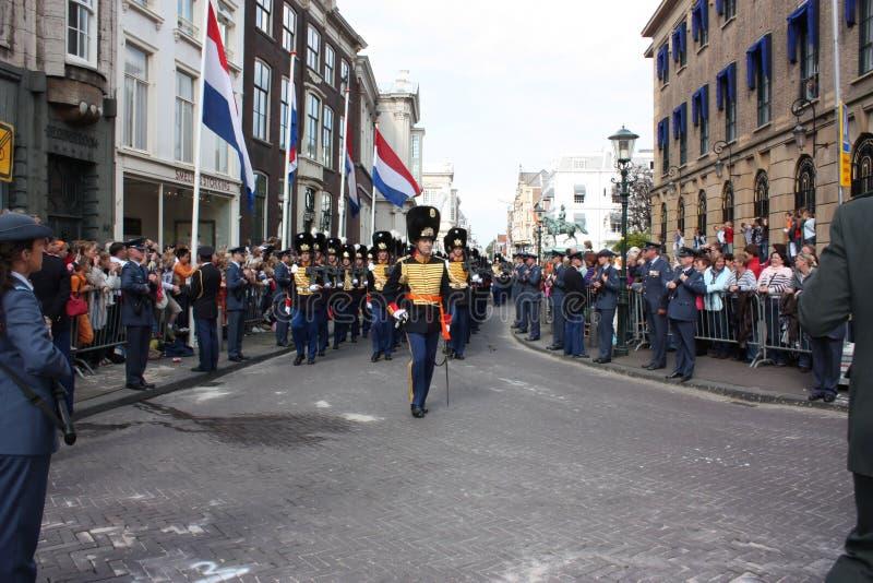 Prinsjesdag w melinie Haag Garde pułk Królewski Netherland monarcha fotografia stock