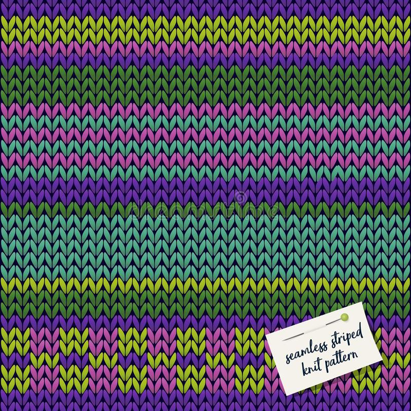 Colorful knitted striped seamless background pattern. vector illustration