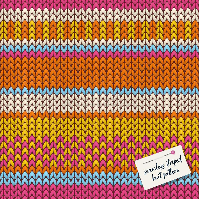 Colorful knitted striped seamless background pattern. royalty free illustration
