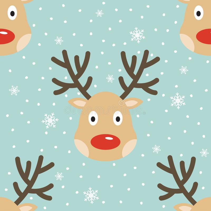 Christmas reindeer seamless pattern vector illustration