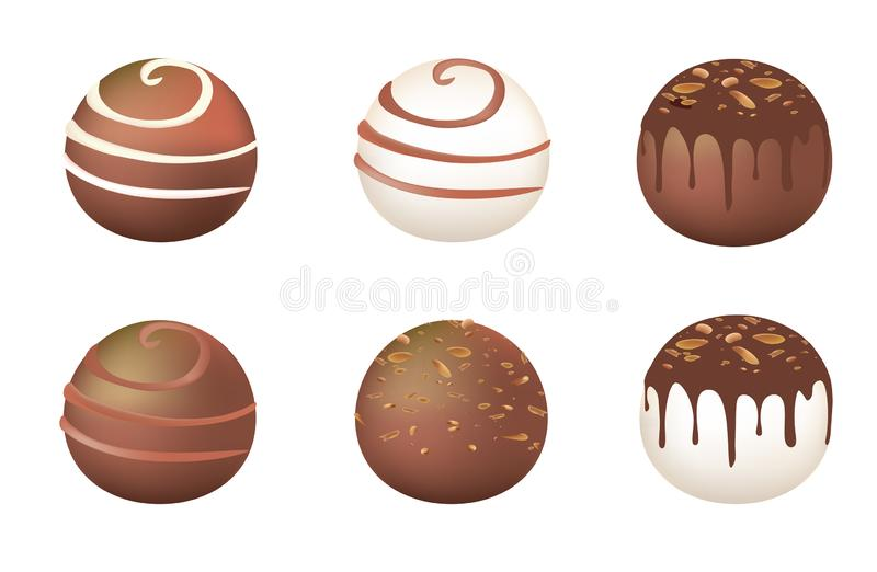 Chocolate round candy royalty free illustration