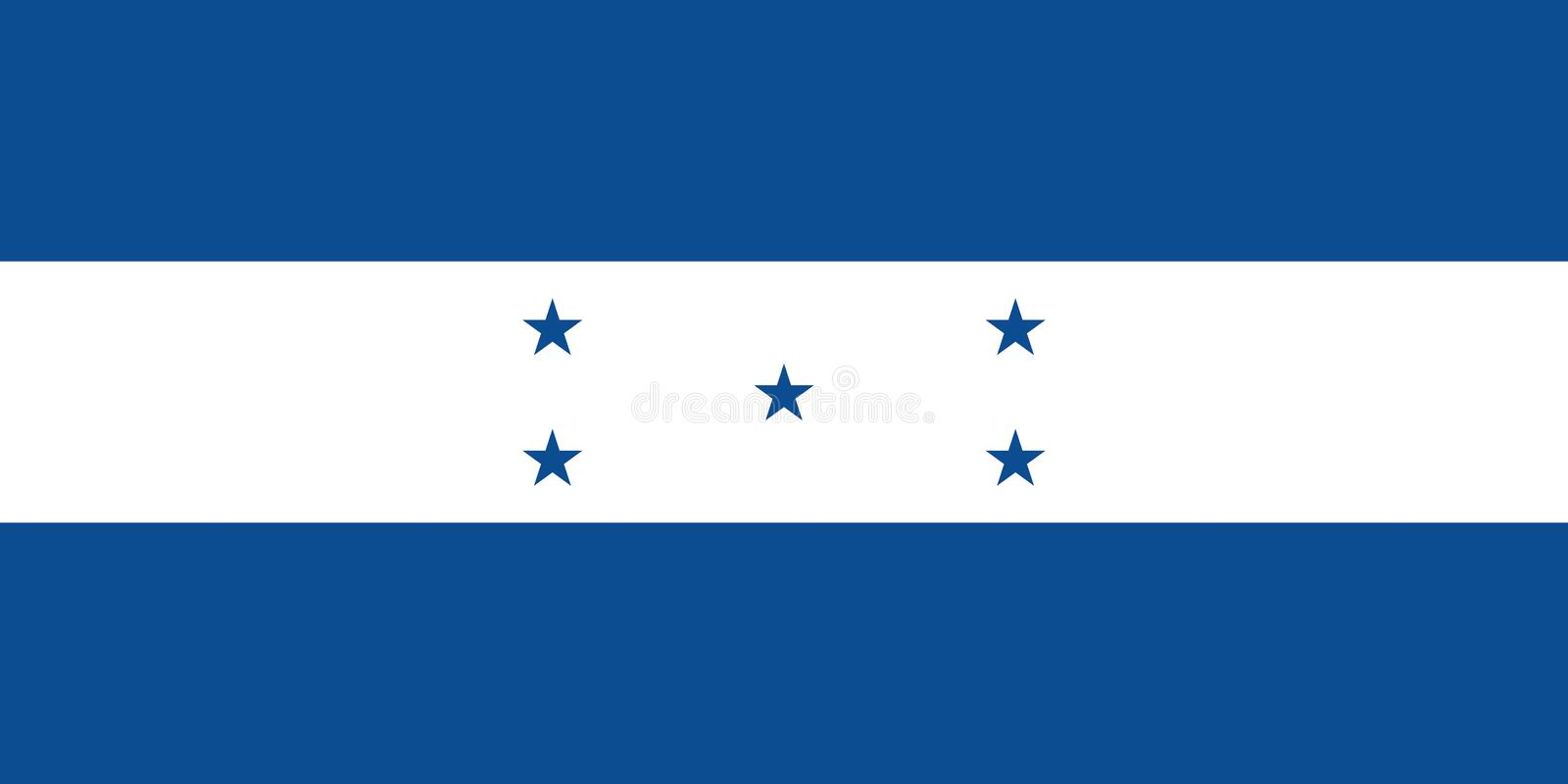 Vector Image of Honduras Flag, The official and exact Honduras flag dimensions and colors. Vector image for Honduras flag. Based on the official and exact stock illustration