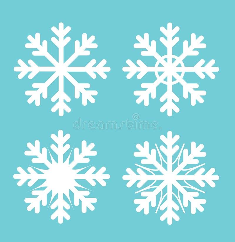 Winter snowflakes set. Vector illustration royalty free illustration