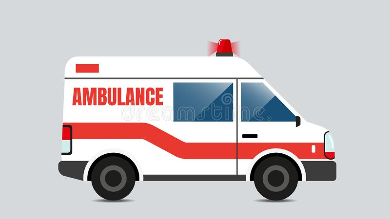 Isolated Ambulance emergency vector. Isolated Ambulance emergency vector, isolated vector illustration