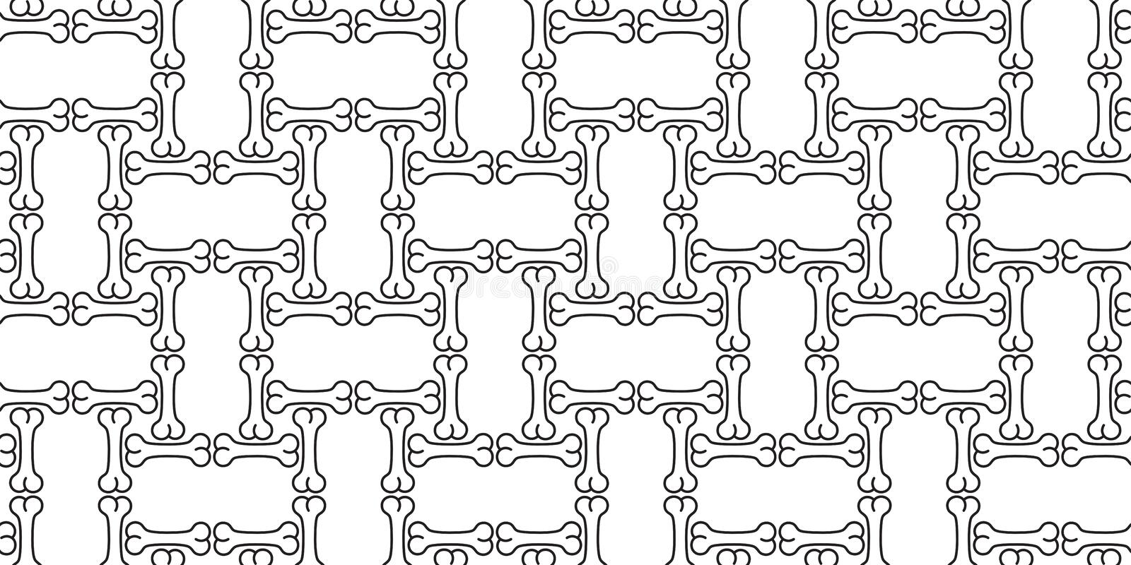 Dog bone seamless pattern vector Halloween french bulldog scarf isolated wallpaper repeat tile background. Dog bone seamless pattern vector Halloween french royalty free illustration