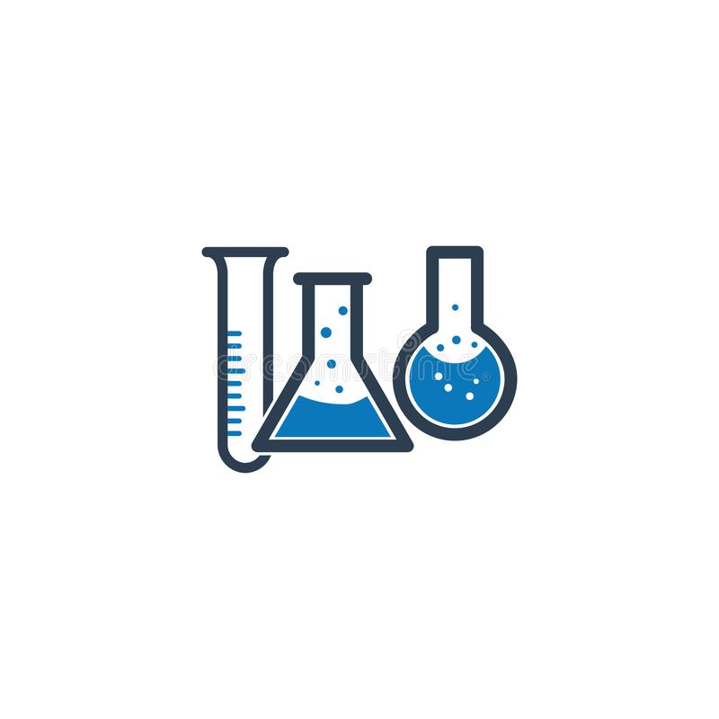 Chemistry experiment, research, science icon, laboratory vector icon vector illustration