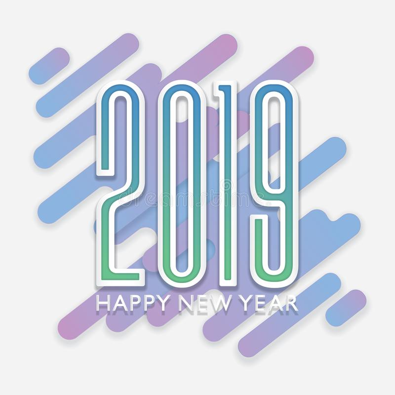 Happy New year background paper cut style stock photos