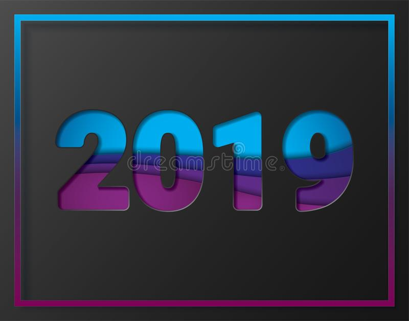 2019 New Year in the background stock photos