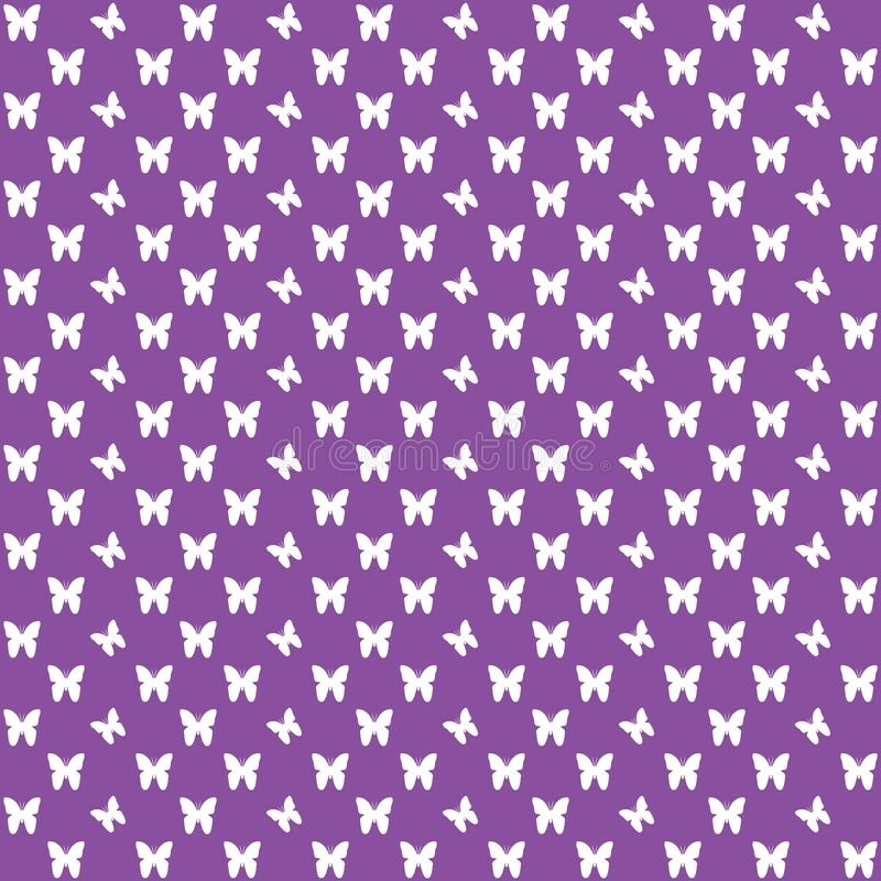 Purple seamless butterfly pattern, butterflies vector background royalty free stock images
