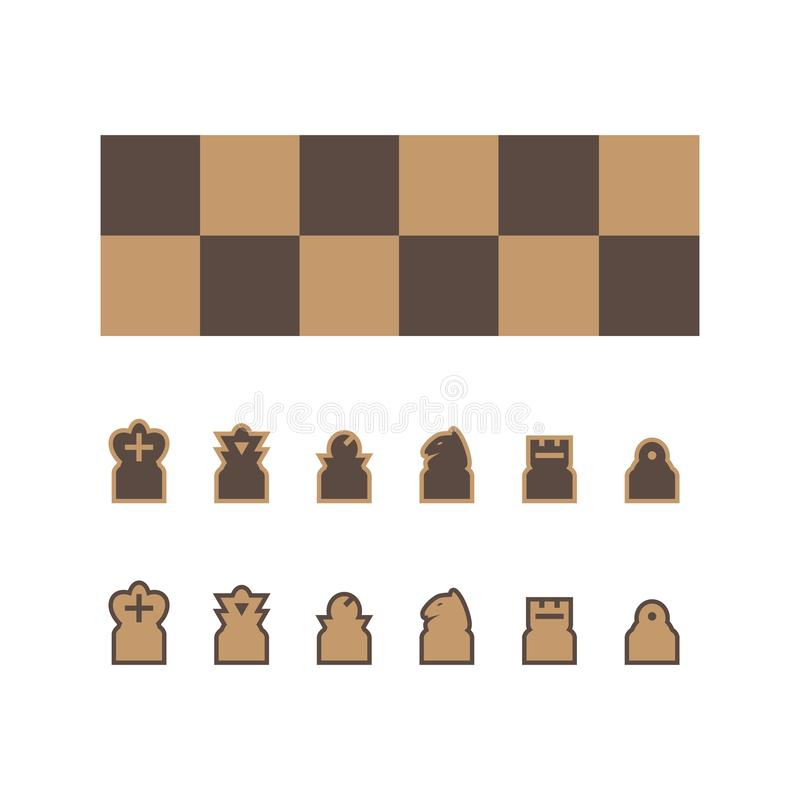 Chess board vector stock illustration