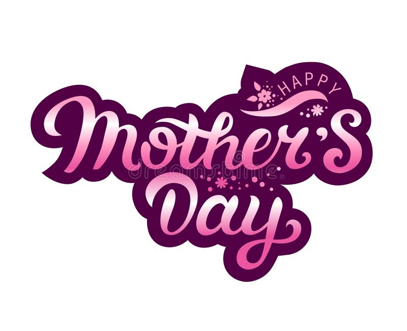 Happy Mothers Day royalty free illustration