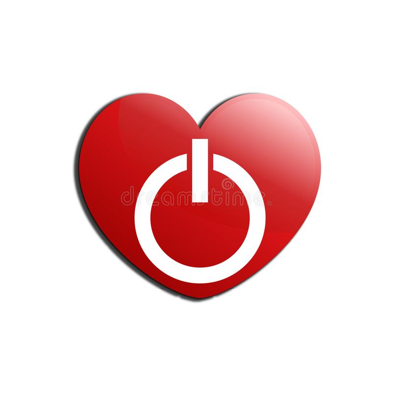 Switch love on white background royalty free illustration
