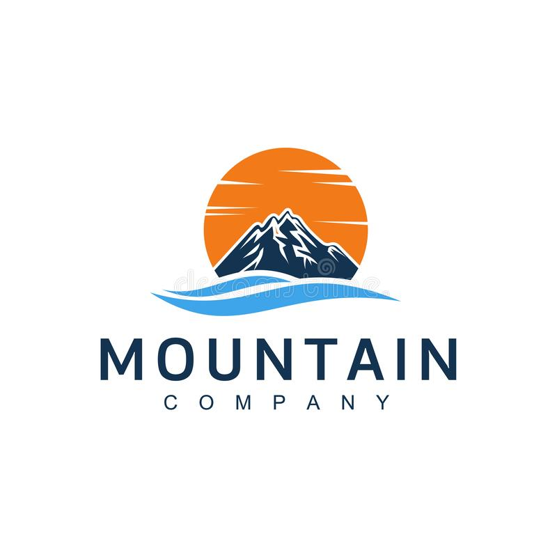 Mountain illustration, outdoor adventure . Vector graphic for t shirt and other uses. vintage landscape with mountain peaks end gr royalty free illustration
