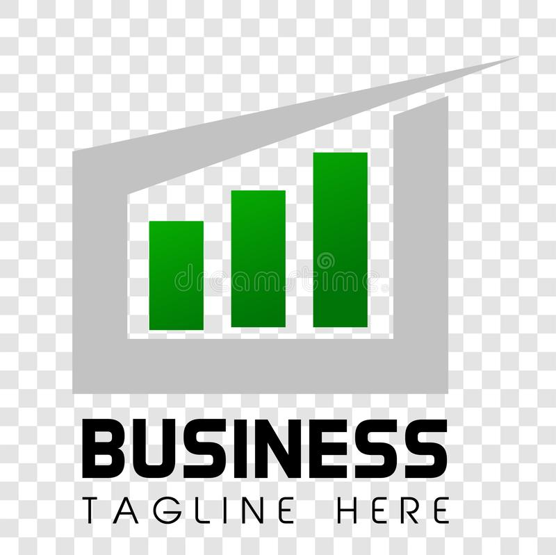 Simple Shinning Cirle arrow and bar Logo Business or investment oriented corporate royalty free illustration