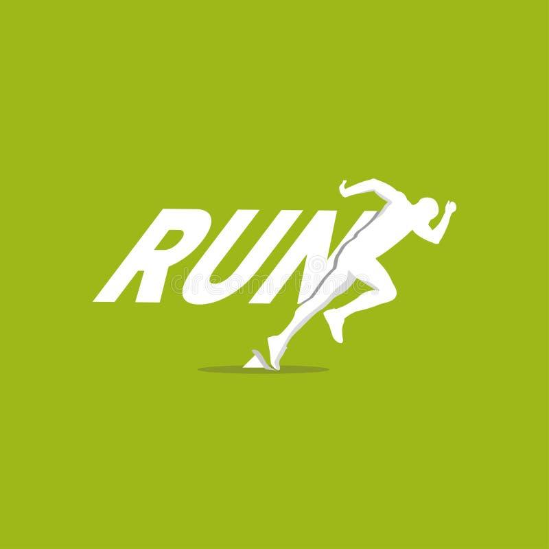 Run vector logo. Creative Color Runner Man Workout Design Illustration - Vektör vector illustration