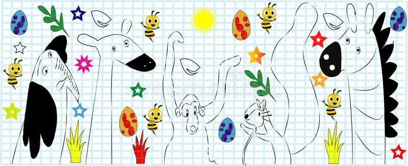 A vector Animal cartoon set illustration - Images vectorielles.  vector illustration