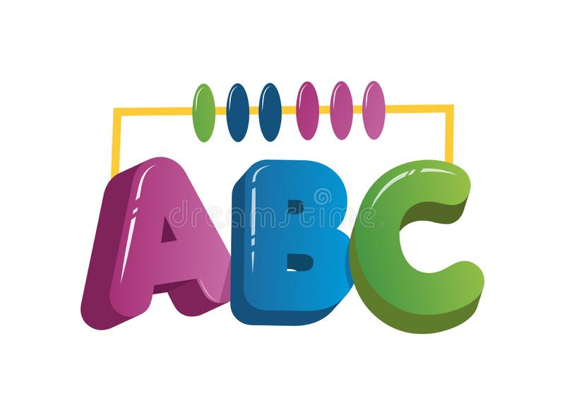 ABC blocks flat icon. Alphabet cubes with A,B,C letters in flat - VektörPrint royalty free illustration