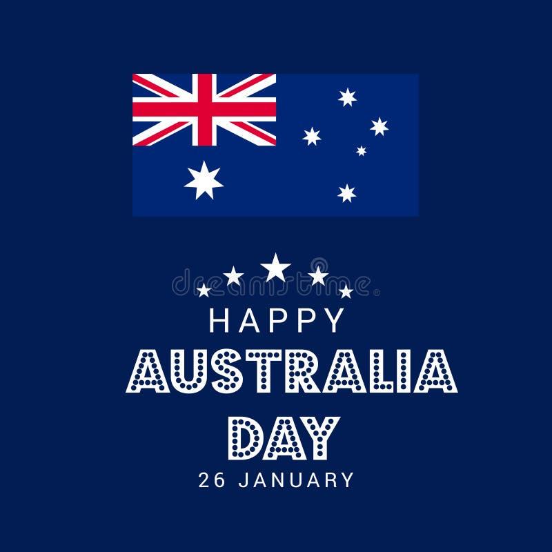 Happy Australia Day. stock illustration