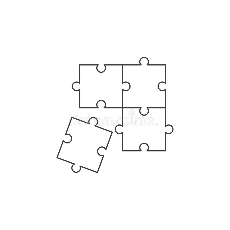 Puzzle solution icon royalty free illustration