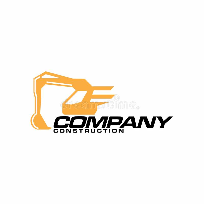 Excavator and backhoe logo template. - Vector. Excavator Vector Logo Template. Excavator logo. Excavator isolated. Digger, construction, backhoe, construction royalty free illustration