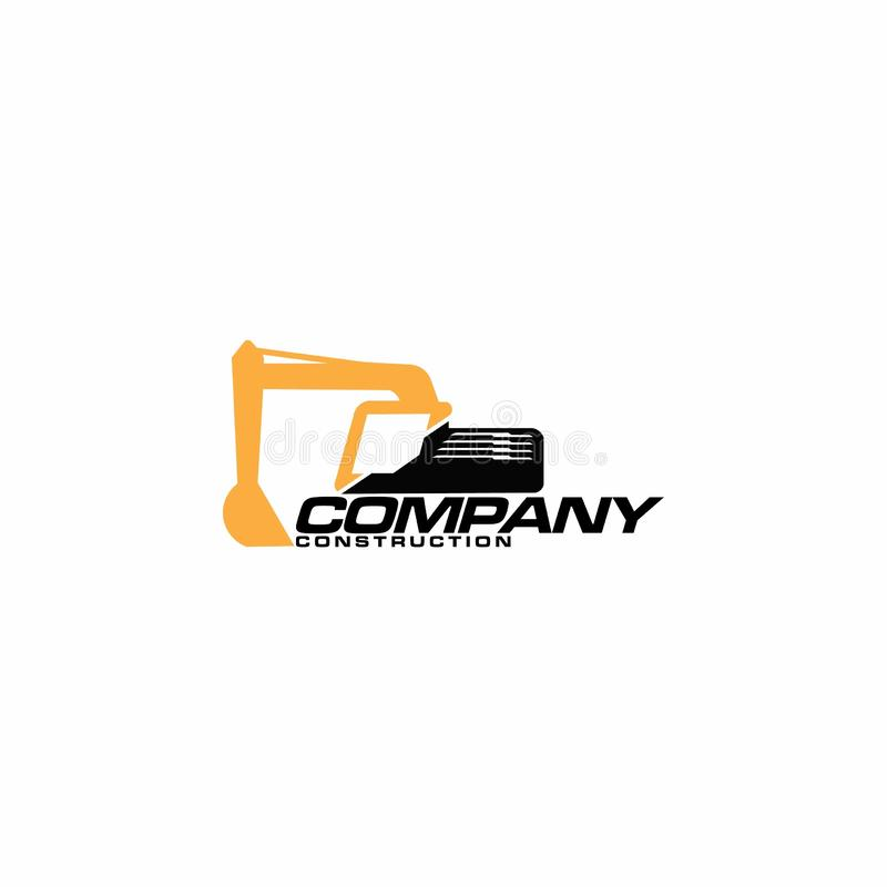 Excavator logo template isolated on white background - Vector. Excavator services logo template vector - Vector,Vector construction excavator. - Vector vector illustration
